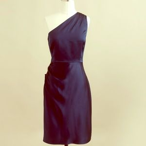 J. Crew Nanine Black Satin Dress size 4
